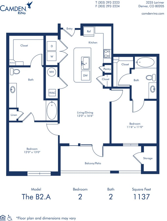 2 Bedrooms 2 Bathrooms Apartment for rent at Camden RiNo in Denver, CO