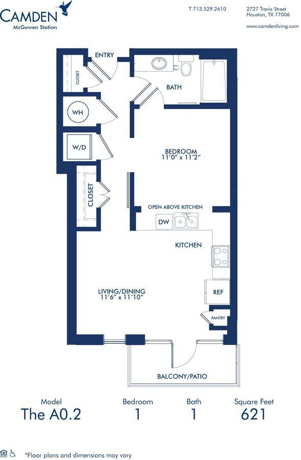 Studio 1 Bathroom Apartment for rent at Camden McGowen Station in Houston, TX