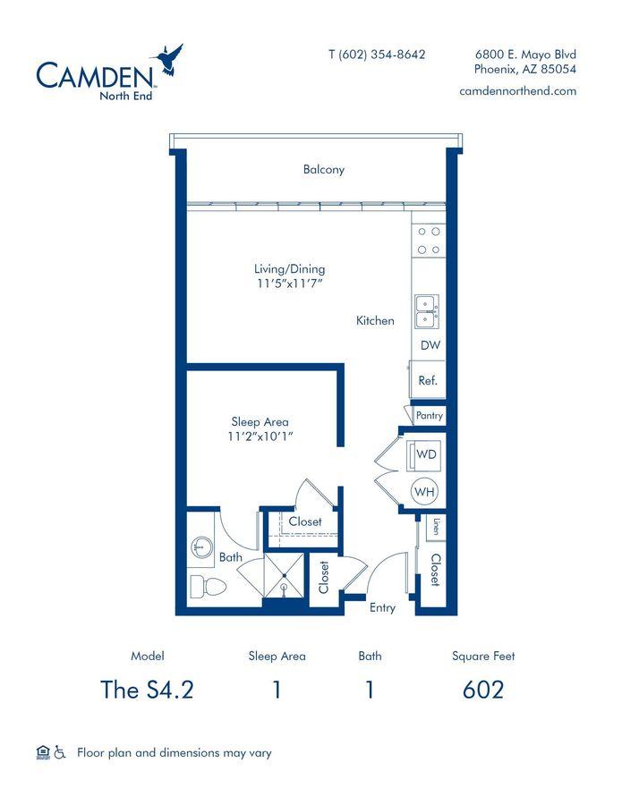 Studio 1 Bathroom Apartment for rent at Camden North End in Phoenix, AZ