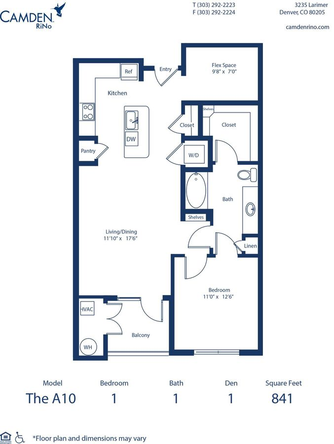 1 Bedroom 1 Bathroom Apartment for rent at Camden RiNo in Denver, CO