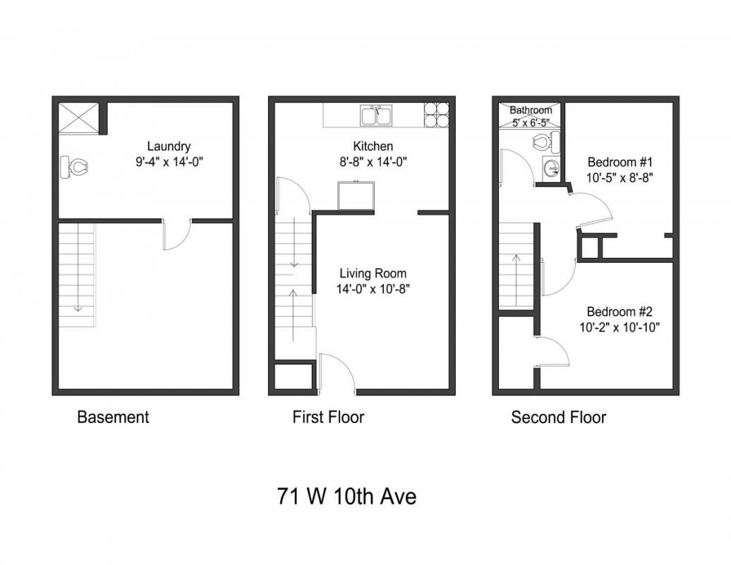 3 Bedrooms 1 Bathroom Apartment for rent at 71 W 10th Ave in Columbus, OH