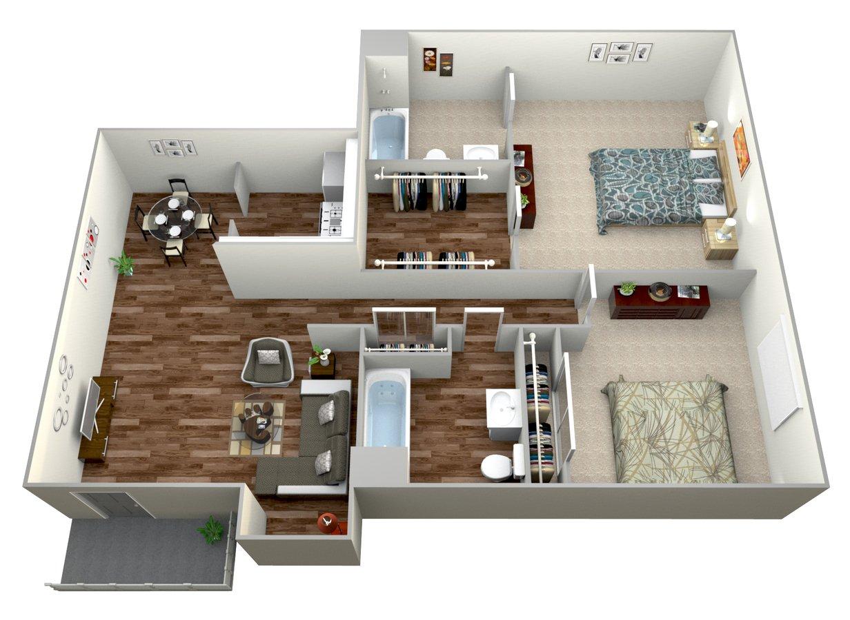 2 Bedrooms 2 Bathrooms Apartment for rent at Mesa Vista Apartment Homes in San Diego, CA