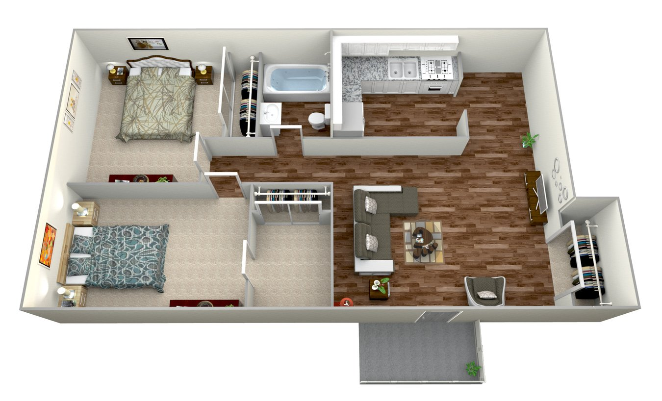 2 Bedrooms 1 Bathroom Apartment for rent at Mesa Vista Apartment Homes in San Diego, CA