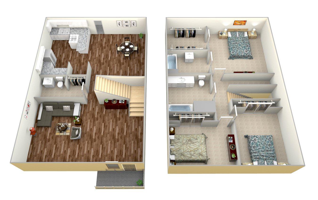 3 Bedrooms 2 Bathrooms Apartment for rent at Mesa Vista Apartment Homes in San Diego, CA