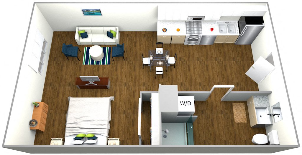 Studio 1 Bathroom Apartment for rent at The Roy in Los Angeles, CA
