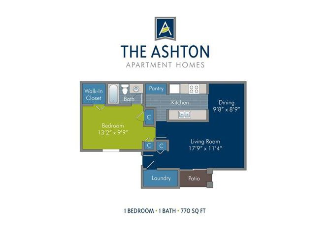 1 Bedroom 1 Bathroom Apartment for rent at Ashton at Richmond Hill in Richmond Hill, GA