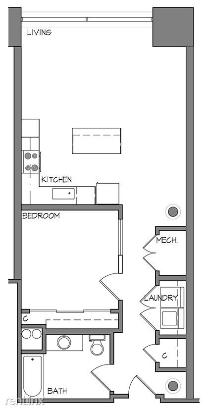 1 Bedroom 1 Bathroom Apartment for rent at Roaster's Block in Kansas City, MO