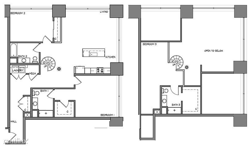 3 Bedrooms 3 Bathrooms Apartment for rent at Roaster's Block in Kansas City, MO