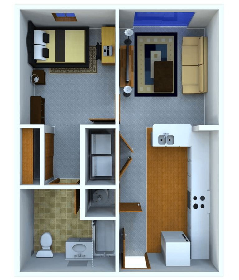 1 Bedroom 1 Bathroom Apartment for rent at Grant Street Station in West Lafayette, IN