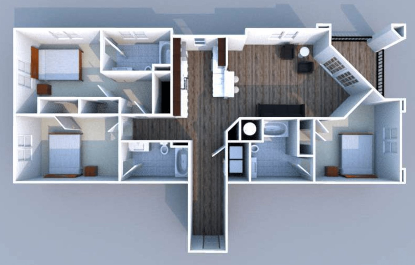 3 Bedrooms 3 Bathrooms Apartment for rent at North By Northwest in West Lafayette, IN