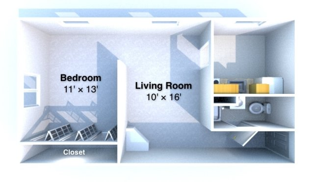1 Bedroom 1 Bathroom Apartment for rent at Twin View in West Lafayette, IN
