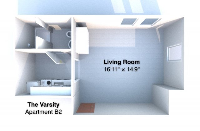 Studio 1 Bathroom Apartment for rent at The Varsity in West Lafayette, IN