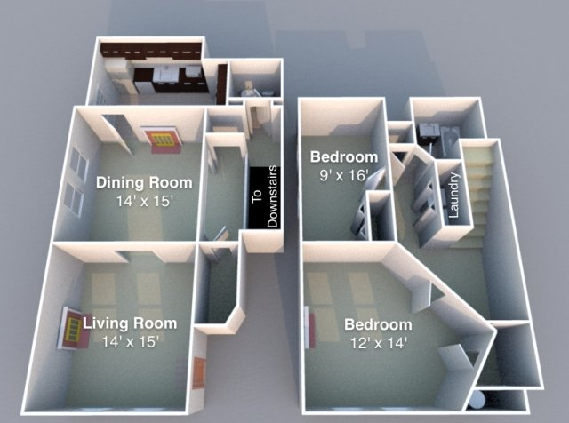 2 Bedrooms 1 Bathroom Apartment for rent at Falley in Lafayette, IN