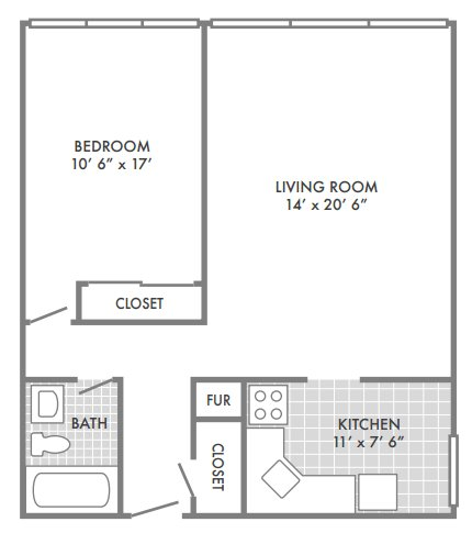 1 Bedroom 1 Bathroom Apartment for rent at Geneva Apartments in St Louis, MO