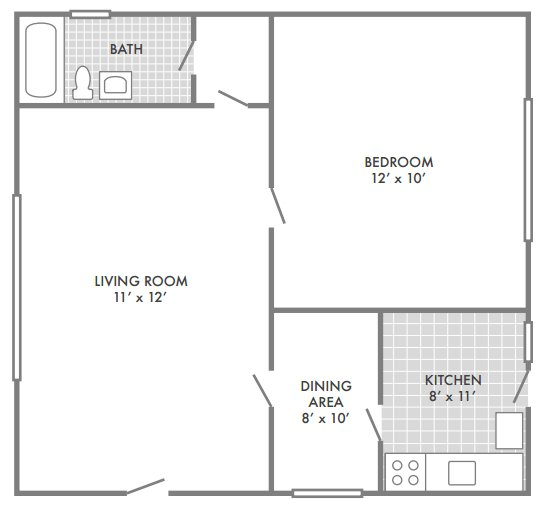 1 Bedroom 1 Bathroom Apartment for rent at Oak Park Apartments in St Louis, MO