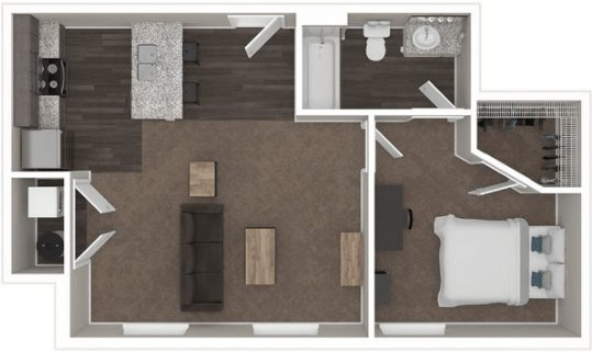 1 Bedroom 1 Bathroom Apartment for rent at The Wellington in Columbus, OH