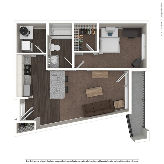 1 Bedroom 1 Bathroom Apartment for rent at Highline At Nine in Columbus, OH