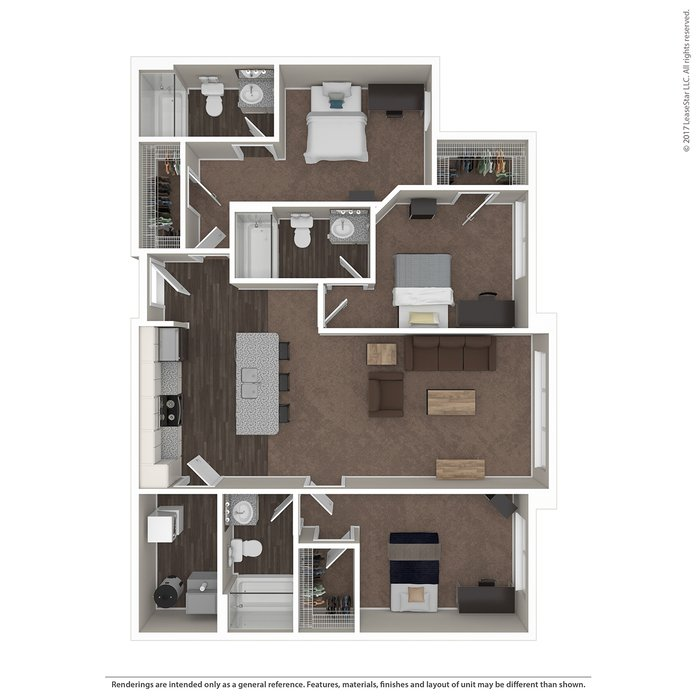 3 Bedrooms 3 Bathrooms Apartment for rent at Highline At Nine in Columbus, OH