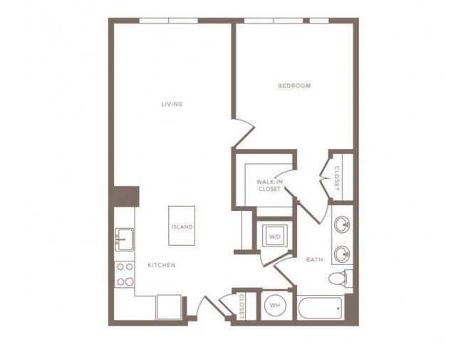 1 Bedroom 1 Bathroom Apartment for rent at Modera Midtown in Atlanta, GA