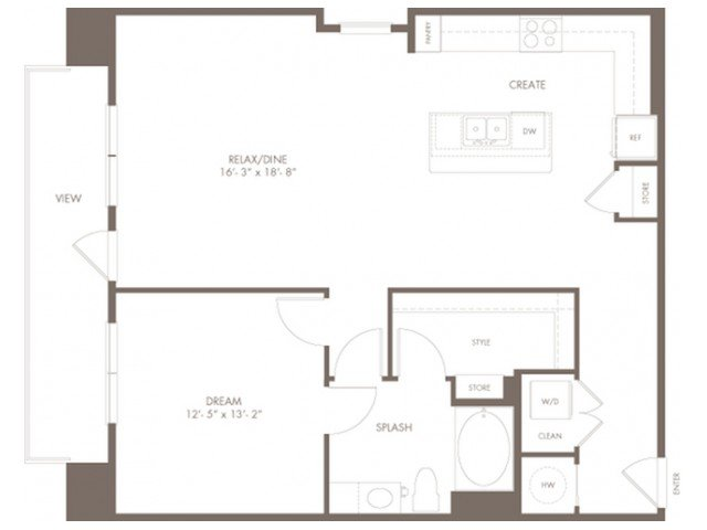 1 Bedroom 1 Bathroom Apartment for rent at Modera Flats in Houston, TX