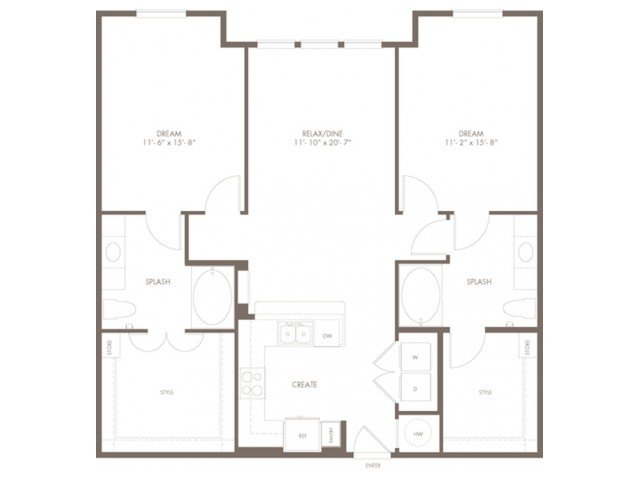 2 Bedrooms 2 Bathrooms Apartment for rent at Modera Flats in Houston, TX