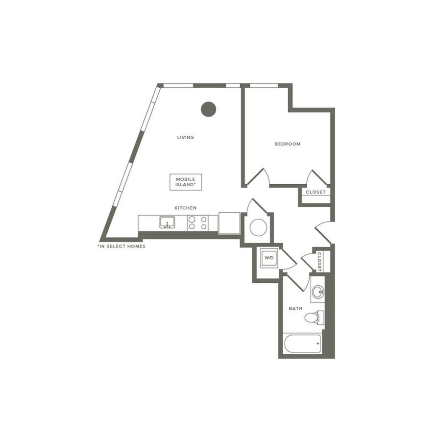 1 Bedroom 1 Bathroom Apartment for rent at Modera Buckhead in Atlanta, GA