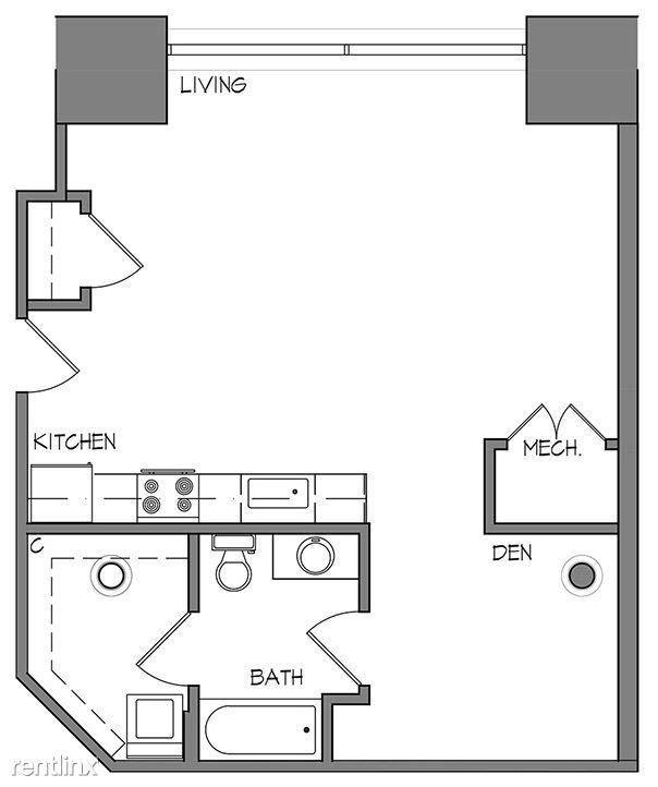 Studio 1 Bathroom Apartment for rent at Roaster's Block in Kansas City, MO