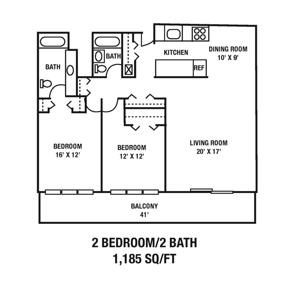 2 Bedrooms 2 Bathrooms Apartment for rent at CityView on Meridian in Indianapolis, IN