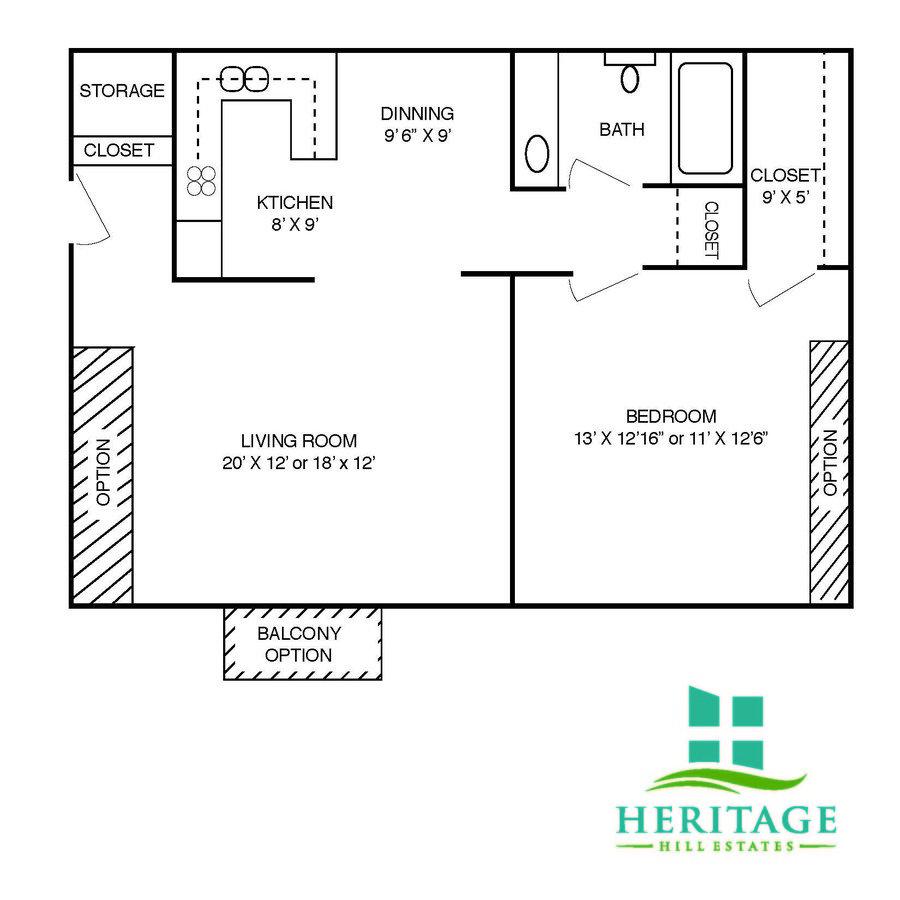 1 Bedroom 1 Bathroom Apartment for rent at Heritage Hill Estates Apartments in Cincinnati, OH