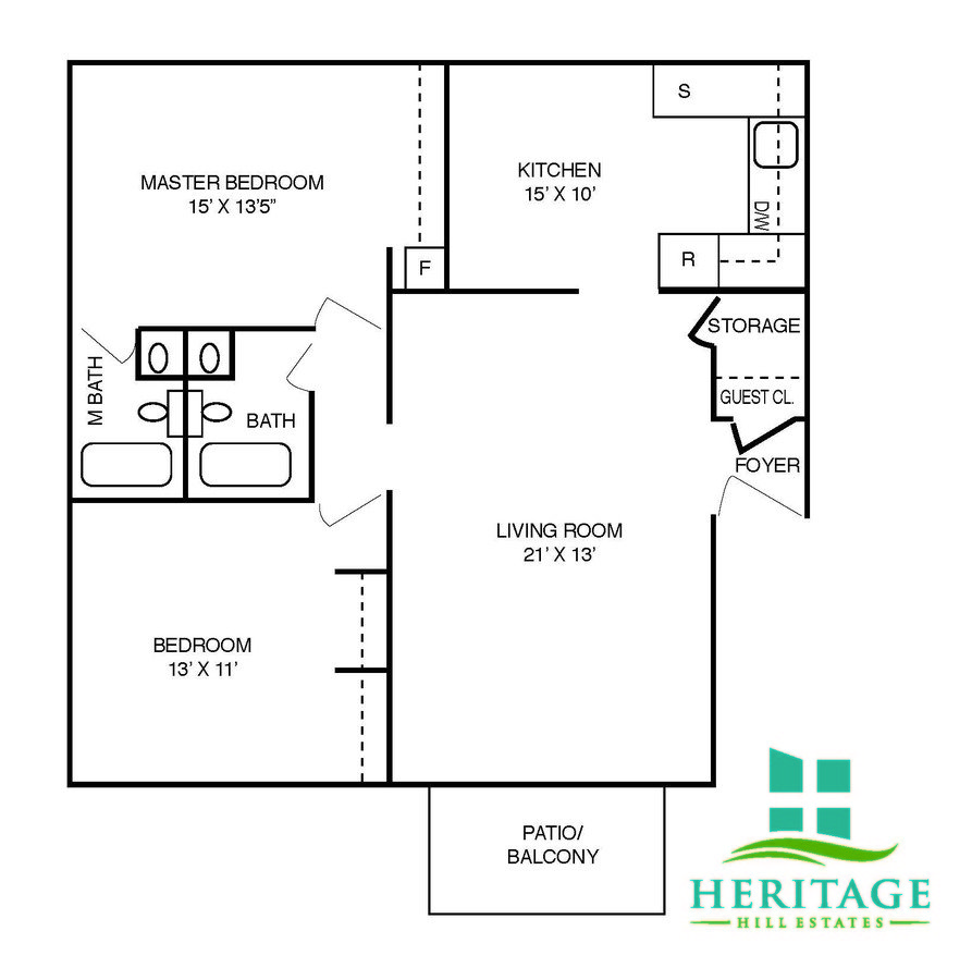 2 Bedrooms 2 Bathrooms Apartment for rent at Heritage Hill Estates Apartments in Cincinnati, OH