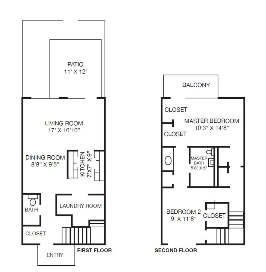 2 Bedrooms 1 Bathroom Apartment for rent at Westpark Townhomes in Indianapolis, IN