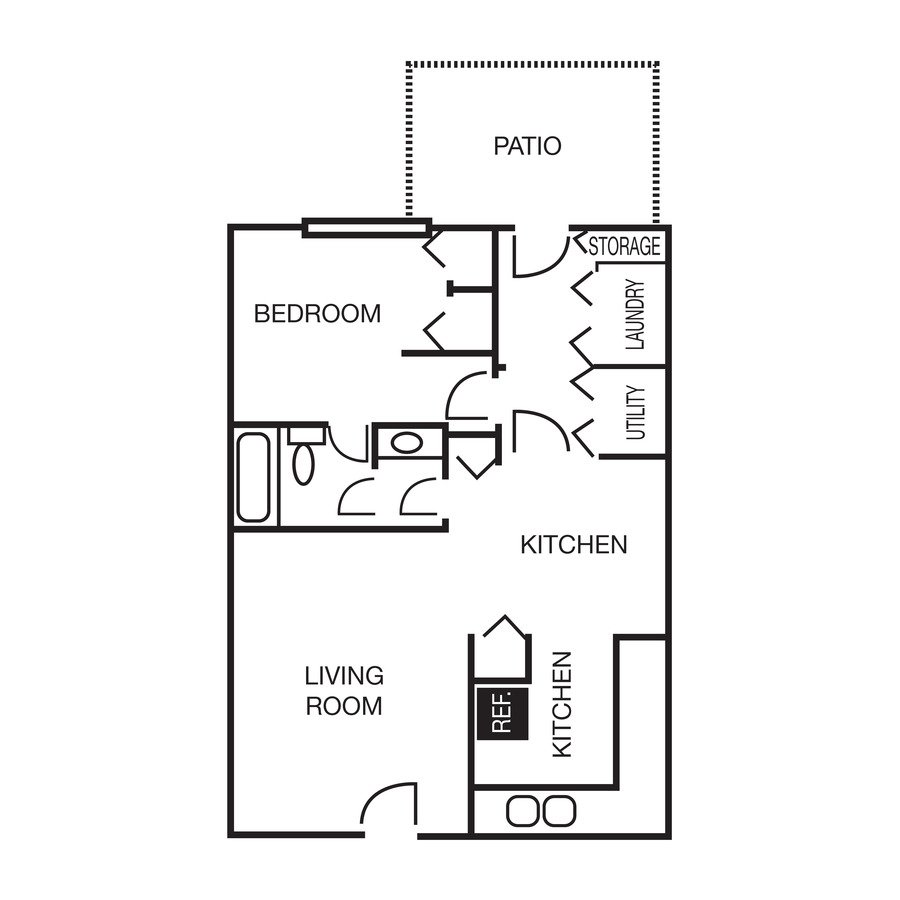 1 Bedroom 1 Bathroom Apartment for rent at Westpark Townhomes in Indianapolis, IN