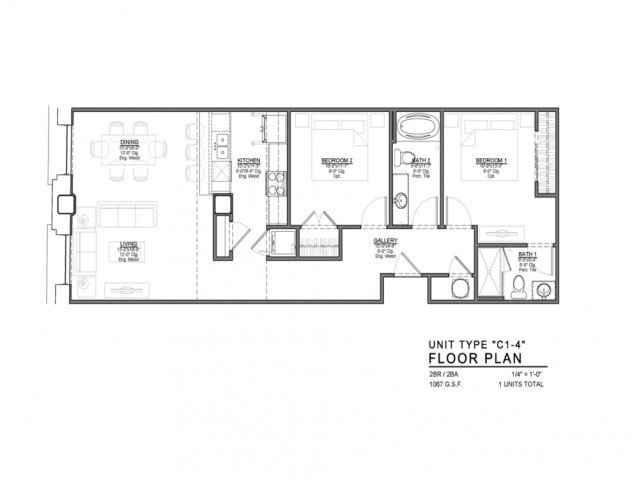 1 Bedroom 2 Bathrooms Apartment for rent at Power & Light KC Apartments in Kansas City, MO