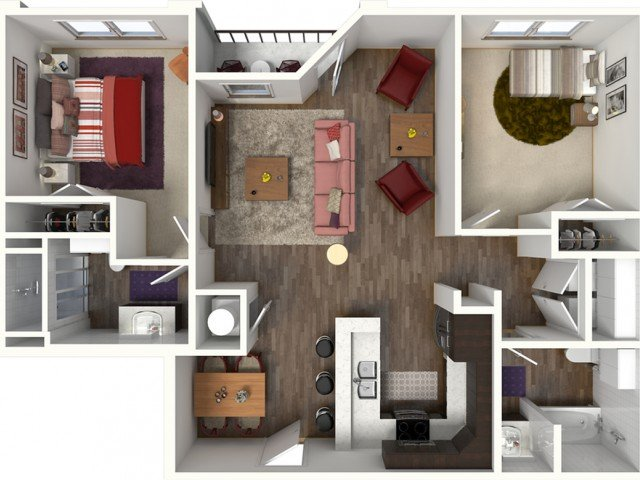 2 Bedrooms 2 Bathrooms Apartment for rent at Kinsley Forest Luxury Apartments in Kansas City, MO