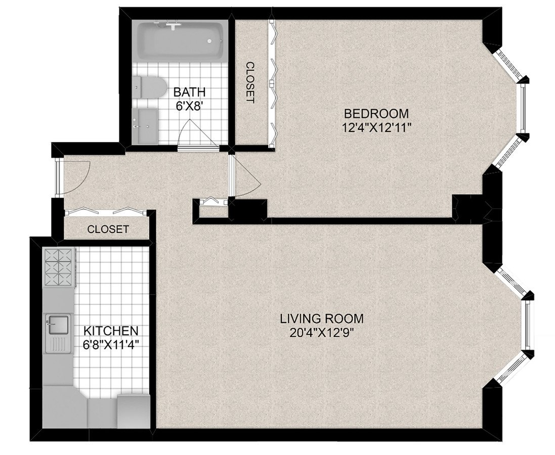 1 Bedroom 1 Bathroom Apartment for rent at 1111 N Dearborn in Chicago, IL