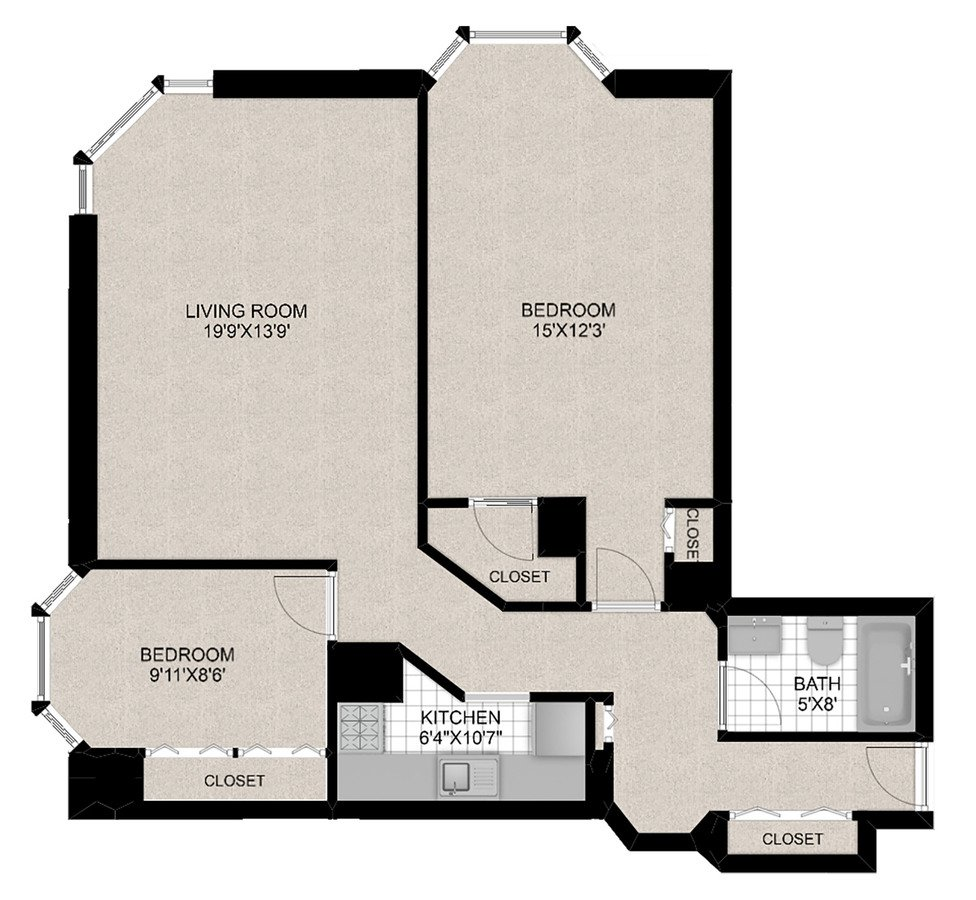 2 Bedrooms 2 Bathrooms Apartment for rent at 1111 N Dearborn in Chicago, IL