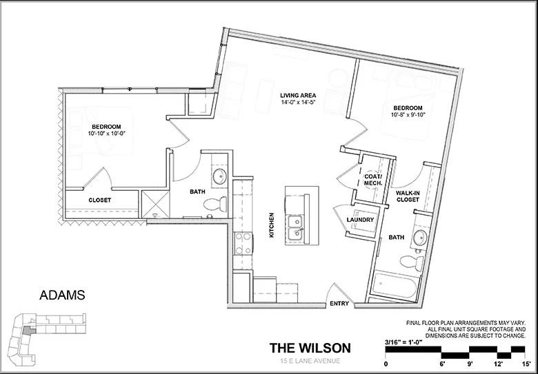 2 Bedrooms 2 Bathrooms Apartment for rent at Wilson Place in Columbus, OH