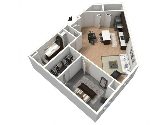 1 Bedroom 1 Bathroom Apartment for rent at ZAG in Omaha, NE
