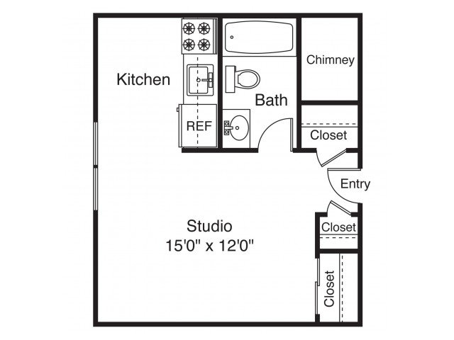 Studio 1 Bathroom Apartment for rent at The Landings on the Trail in East Providence, RI