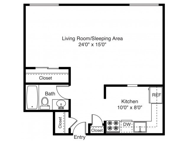 Studio 1 Bathroom Apartment for rent at East Shore Apartment Homes in East Providence, RI