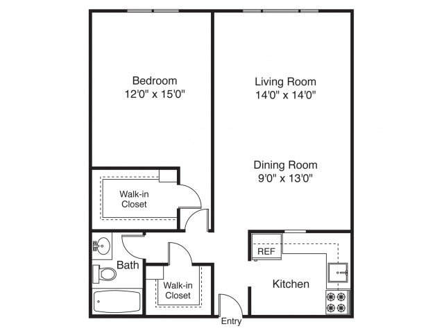 1 Bedroom 1 Bathroom Apartment for rent at The Landings on the Trail in East Providence, RI