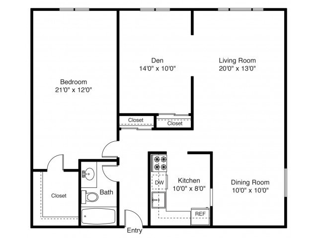 1 Bedroom 1 Bathroom Apartment for rent at East Shore Apartment Homes in East Providence, RI