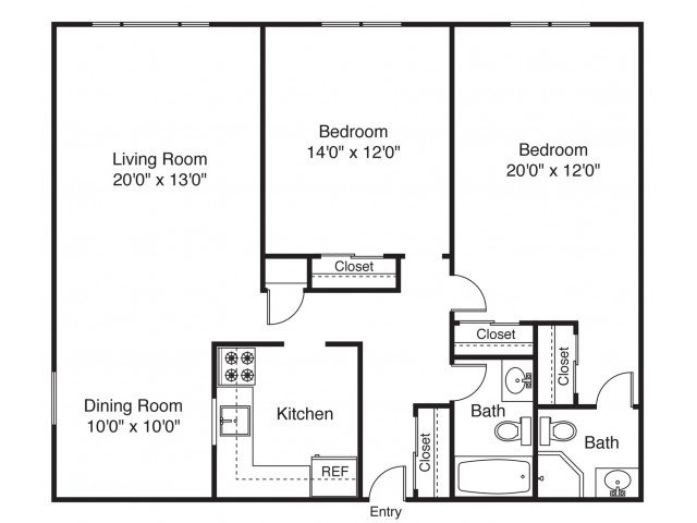 2 Bedrooms 2 Bathrooms Apartment for rent at The Landings on the Trail in East Providence, RI