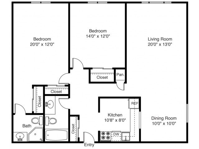 2 Bedrooms 2 Bathrooms Apartment for rent at East Shore Apartment Homes in East Providence, RI