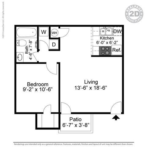 1 Bedroom 1 Bathroom Apartment for rent at Apple Creek Apartments in Omaha, NE