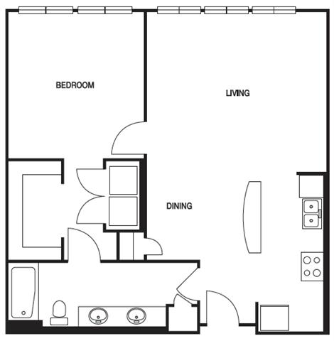 1 Bedroom 1 Bathroom Apartment for rent at Biltmore at Midtown in Atlanta, GA