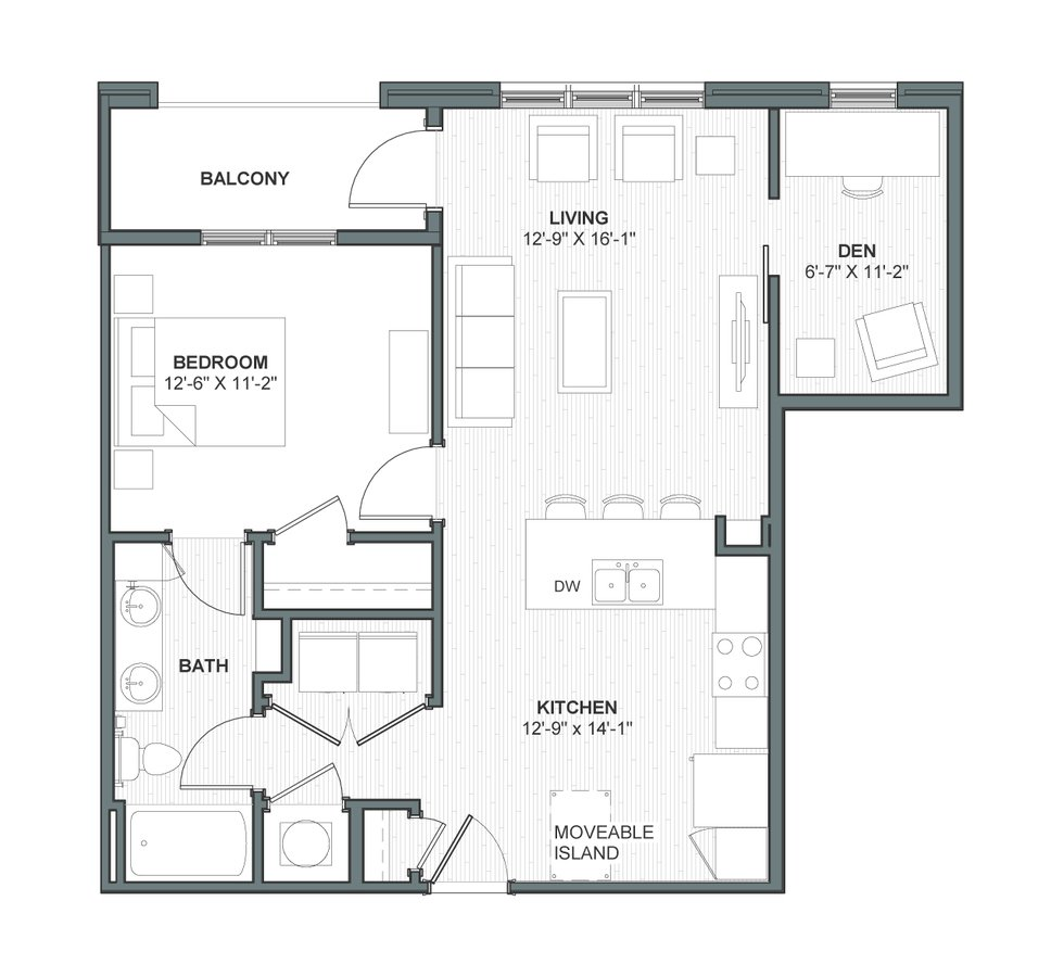 1 Bedroom 1 Bathroom Apartment for rent at Meeting Street Lofts in Charleston, SC