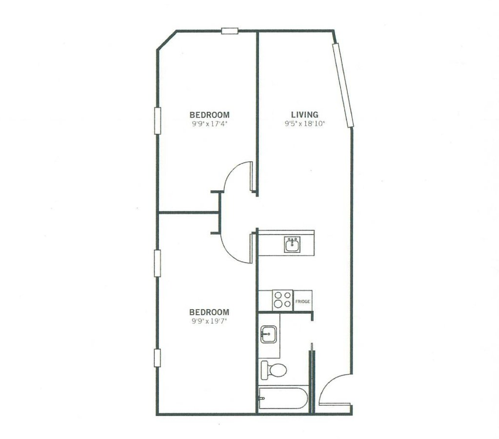 2 Bedrooms 1 Bathroom Apartment for rent at Meeting Street Lofts in Charleston, SC