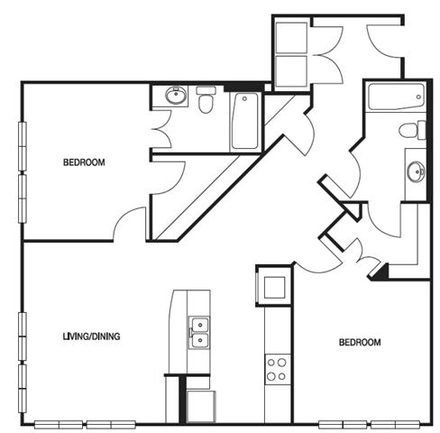 2 Bedrooms 2 Bathrooms Apartment for rent at Biltmore at Midtown in Atlanta, GA