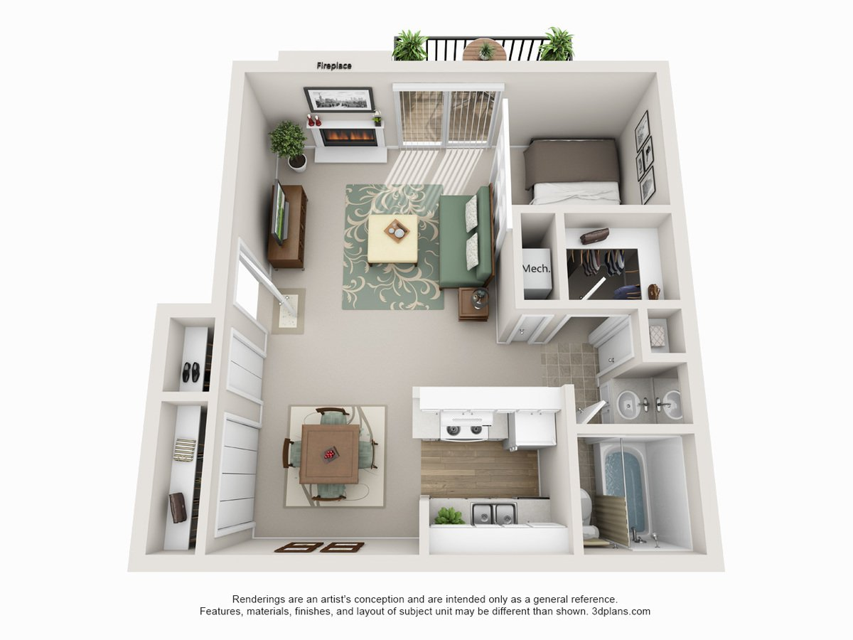 Studio 1 Bathroom Apartment for rent at Camelot Village in Omaha, NE